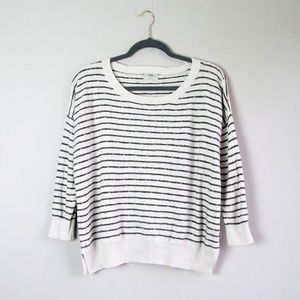 Madewell Wallace striped boxy fit sweater